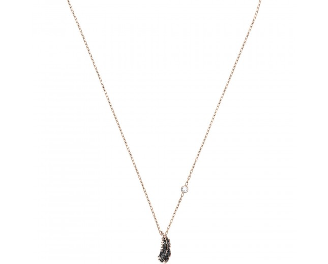 Swarovski Naughty Mini Jet Necklace, Rose Gold Plating, 5495292 Authentic