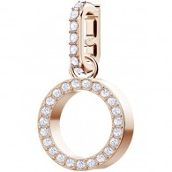 SWAROVSKI REMIX COLLECTION CHARM O, WHITE, ROSE GOLD PLATING 5437607