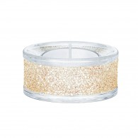 Swarovski 5428724 SHIMMER TEA LIGHT HOLDERS, GOLD TONE