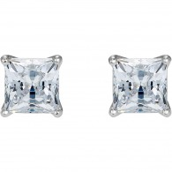 Swarovski 5509936 ATTRACT PIERCED EARRINGS, WHITE, RHODIUM PLATED