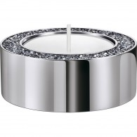 Swarovski 5474386 MINERA TEA LIGHT HOLDER, SMALL, SILVER TONE