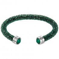 Swarovski 5250690 Crystaldust Cuff, Green medium βραχιόλι.