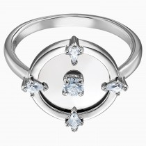 Swarovski 5497233 NORTH MOTIF RING, WHITE, RHODIUM PLATED No55