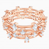 Swarovski 5486602 PENÉLOPE CRUZ MOONSUN CLUSTER RING, WHITE, ROSE -GOLD Νο55