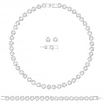Swarovski 5367853 Angelic All-Around Set, White, Rhodium plating Authentic