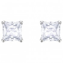 Swarovski επιροδιωμένα σκουλαρίκια Attract Stud Pierced Earrings, White, Rhodium plating, 5430365