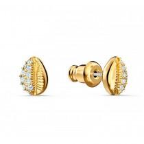 Swarovski 5520471 SHELL STUD PIERCED EARRINGS, WHITE, GOLD-TONE