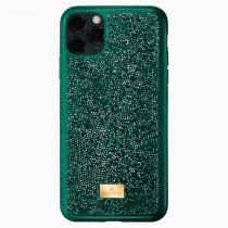 Swarovski 5549939 GLAM ROCK SMARTPHONE CASE WITH BUMPER, IPHONE® 11 PRO, GREEN