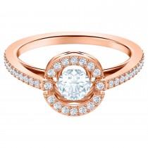 Swarovski 5482710 No58 Sparkling Dance Round Ring, White, Rose-gold