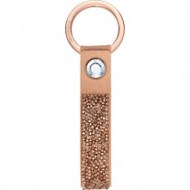 Swarovski 5510797 GLAM ROCK KEY RING, PINK GOLD, ROSE-GOLD TONE PLATED