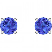Swarovski 5512385 ATTRACT STUD PIERCED EARRINGS, BLUE, RHODIUM PLATED