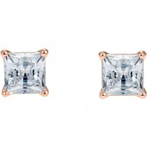 Swarovski  5509935 ATTRACT PIERCED EARRINGS, WHITE, ROSE-GOLD TONE PLATED