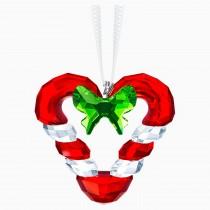 Swarovski 5403314 CANDY CANE HEART ORNAMENT