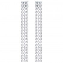 Swarovski 5293087 FIT LONG PIERCED EARRINGS, WHITE, PALLADIUM.