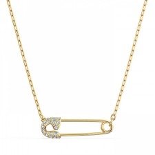Swarovski 5512760 SO COOL PIN NECKLACE, WHITE, GOLD-TONE PLATED