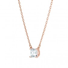 Swarovski 5510698 ATTRACT NECKLACE, WHITE, ROSE-GOLD TONE PLATED