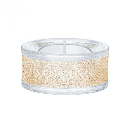 Swarovski 5428724 SHIMMER TEA LIGHT HOLDERS, GOLD TONE