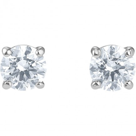 Swarovski 5509937 επιροδιωμένα σκουλαρίκια ATTRACT STUD PIERCED EARRINGS, WHITE, RHODIUM PLATED
