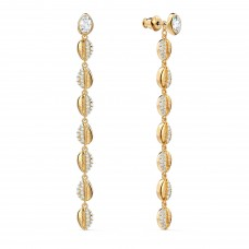 Swarovski 5520474 SHELL COWRIE PIERCED EARRINGS, WHITE, GOLD-TONE PLATED